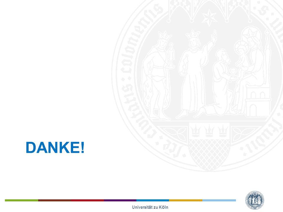 DANKE! Universität zu Köln