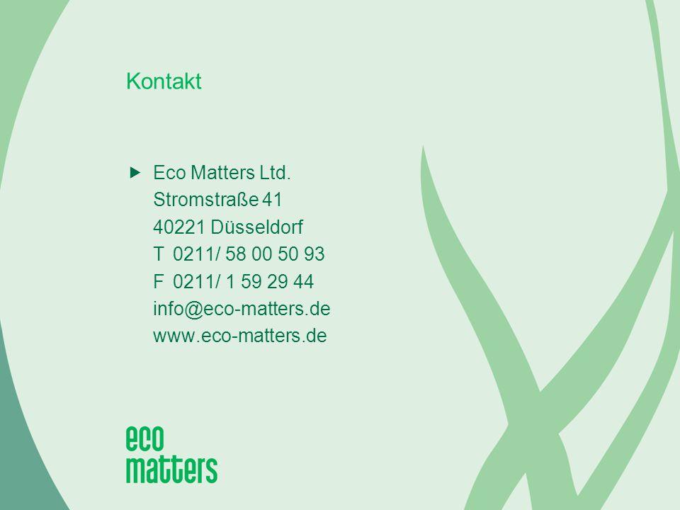 Kontakt  Eco Matters Ltd.