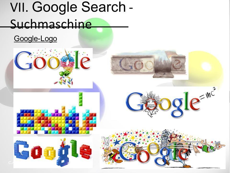 VII. Google Search - Suchmaschine Google-Logo