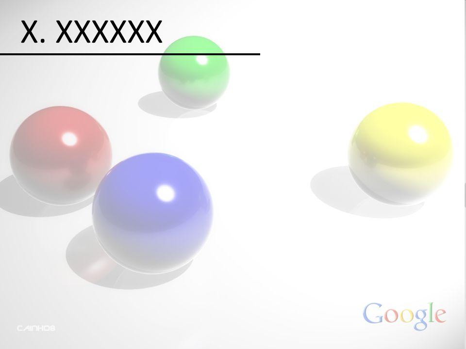 X. XXXXXX