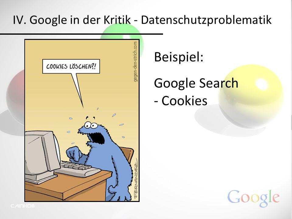 Beispiel: Google Search - Cookies