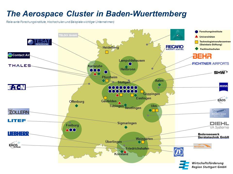 The Aerospace Cluster in Baden-Wuerttemberg Relevante Forschungsinstitute, Hochschulen und Beispiele wichtiger Unternehmen) Stuttgart Gäufelden Esslin