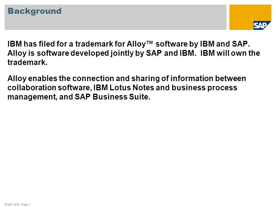 © SAP 2009 / Page 14 Thank you!