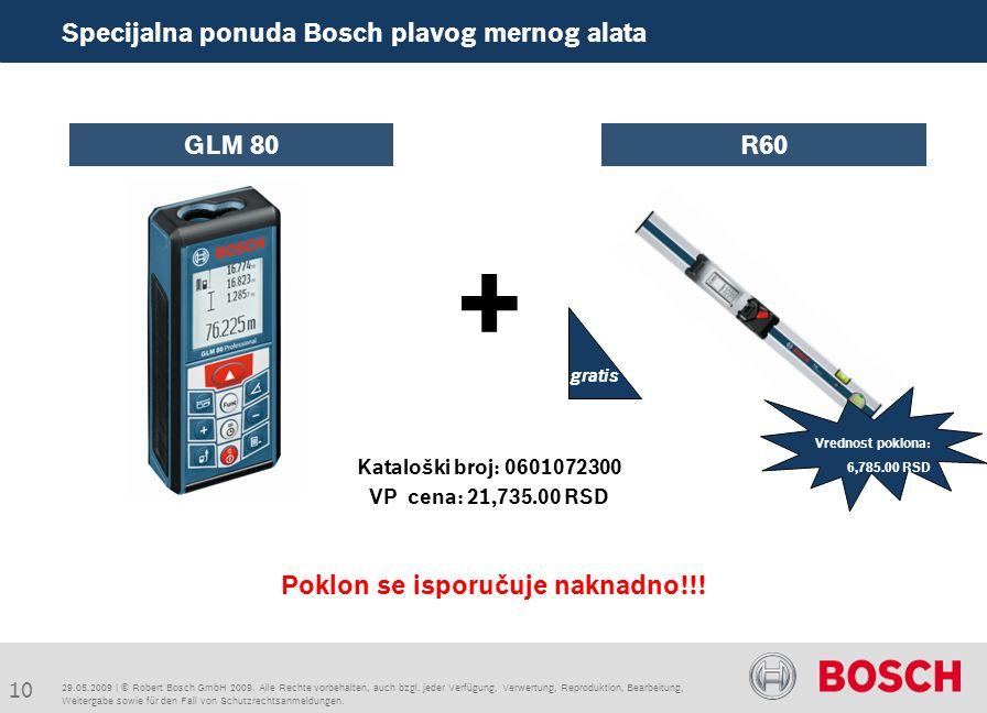 10 Specijalna ponuda Bosch plavog mernog alata + Poklon se isporučuje naknadno!!.