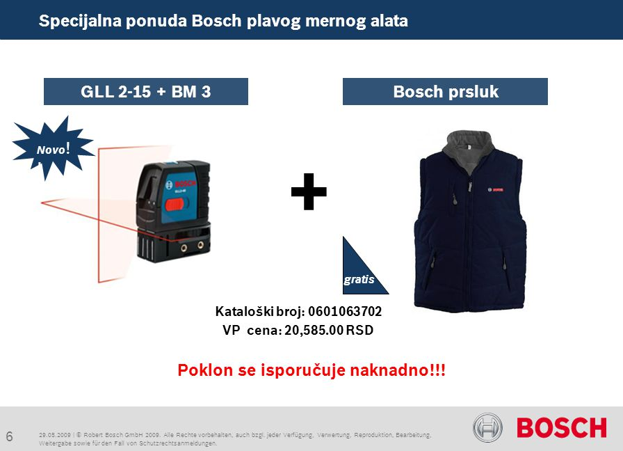 Specijalna ponuda Bosch plavog mernog alata + Poklon se isporučuje naknadno!!.
