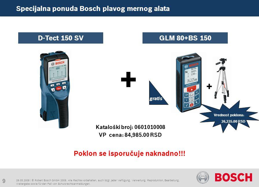 9 Specijalna ponuda Bosch plavog mernog alata + Poklon se isporučuje naknadno!!.