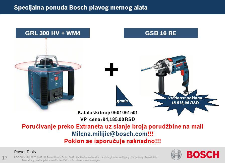 Power Tools PT-GEU/MKB | | © Robert Bosch GmbH 2009.