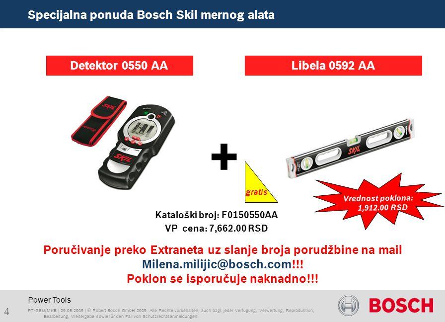 Power Tools + Detektor 0550 AA PT-GEU/MKB | 29.05.2009 | © Robert Bosch GmbH 2009.