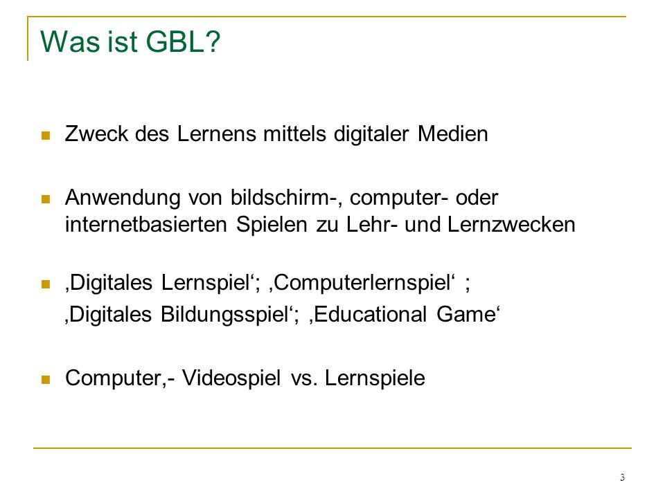 3 Was ist GBL.