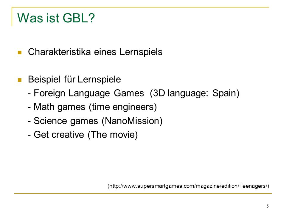 5 Was ist GBL.