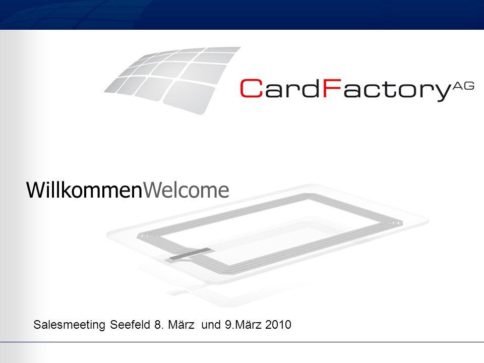 WillkommenWelcome Salesmeeting Seefeld 8. März und 9.März 2010