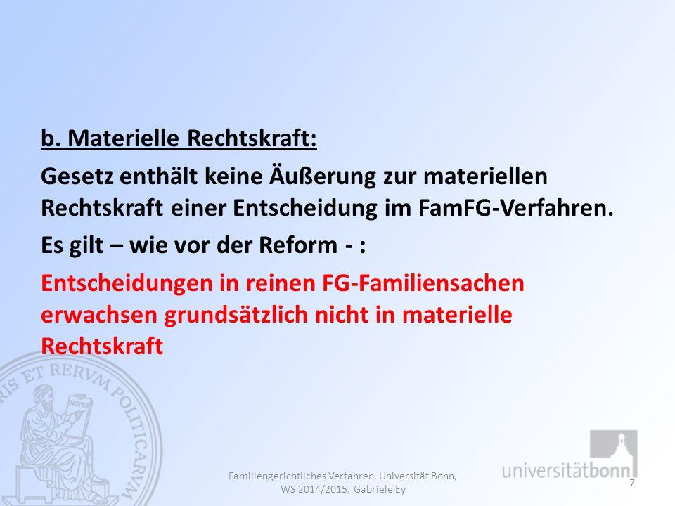 1.Ziele der Neuregelung der §§ 70 ff.