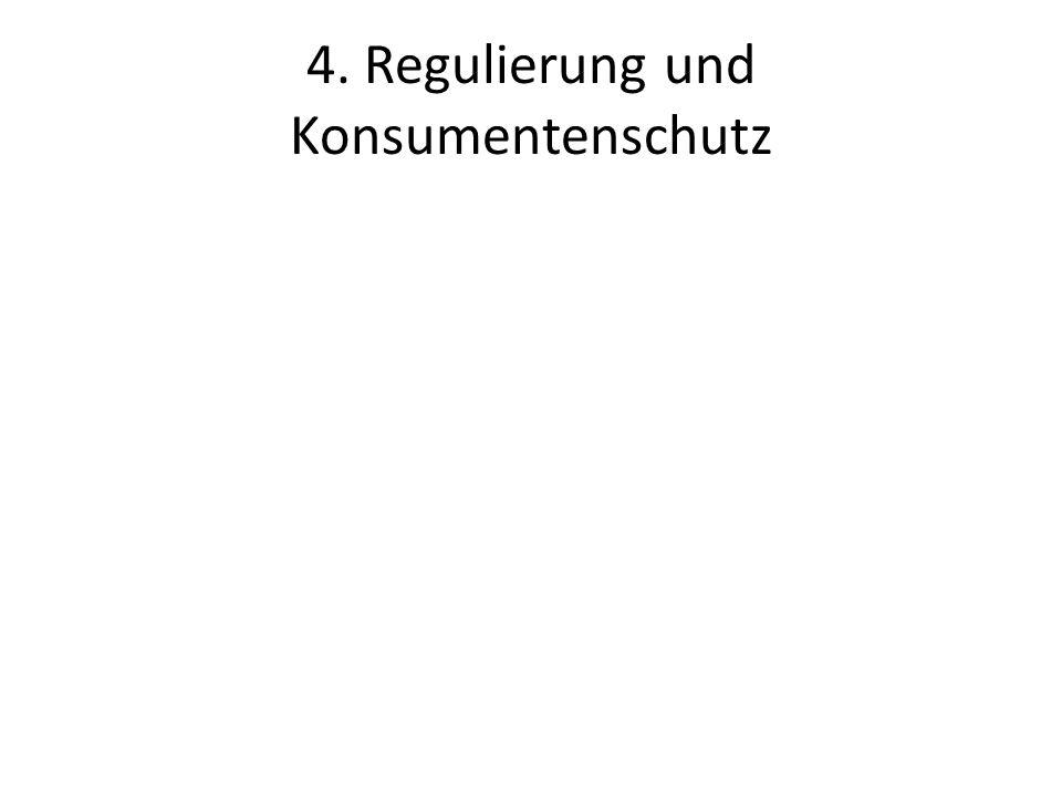 4. Regulierung und Konsumentenschutz