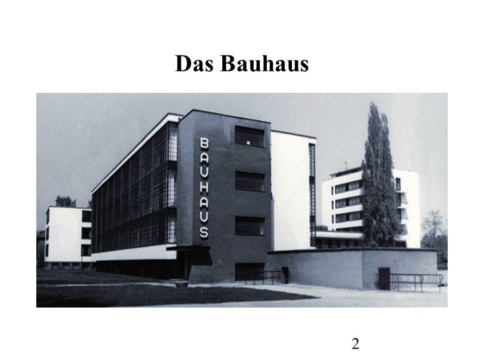 3 Das Bauhaus begann 1919 mit einer Utopie: der Bau der Zukunft .