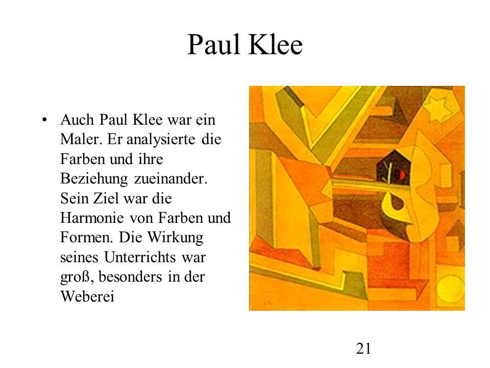 22 Werke von Klee
