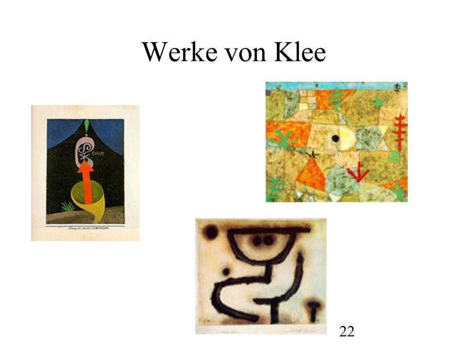 23 Werke von Klee