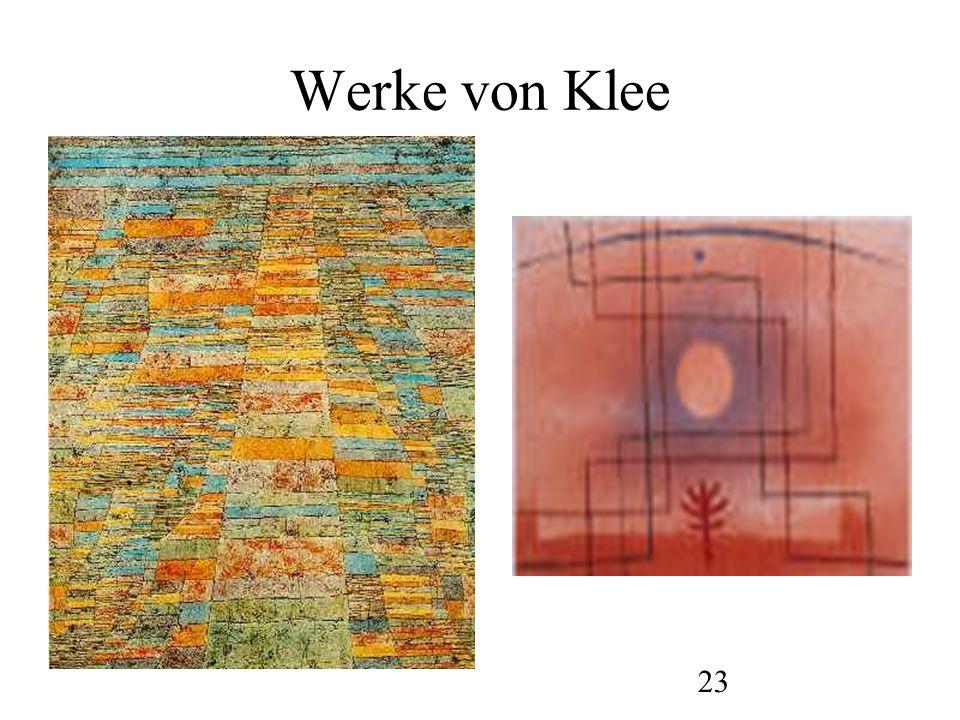 24 Werke von Klee
