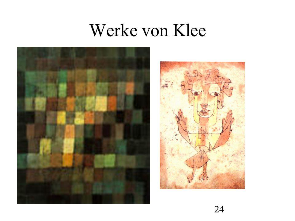 25 Werke von Klee