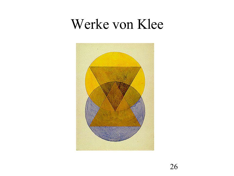 27 Werke von Klee