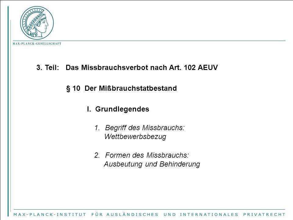 II.Ausbeutungsmissbrauch (Art. 102 lit.