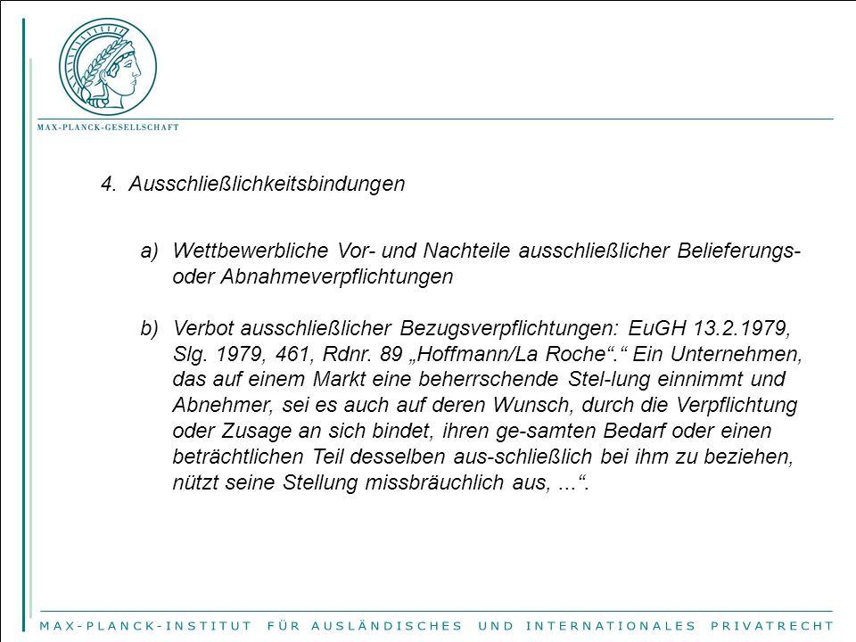 c)Verbot von Vertriebs- und Verwendungsverbindungen.