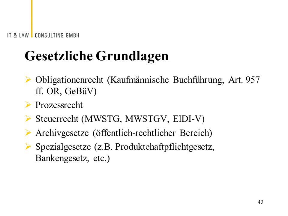 Gesetzliche Grundlagen  Obligationenrecht (Kaufmännische Buchführung, Art.