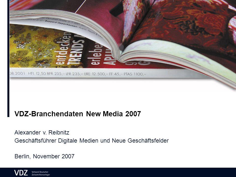 VDZ-Branchendaten New Media 2007 Alexander v.