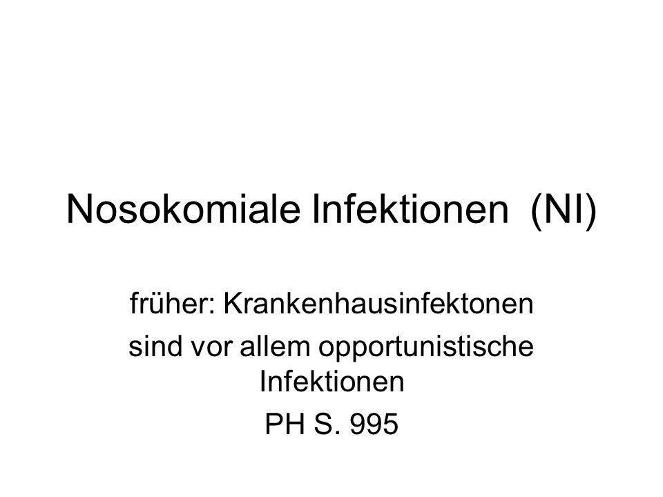 NI Jede Infektion, die in einem unmittelbaren Zusammenhang mit einem Krankenhausaufenthalt (oder med.