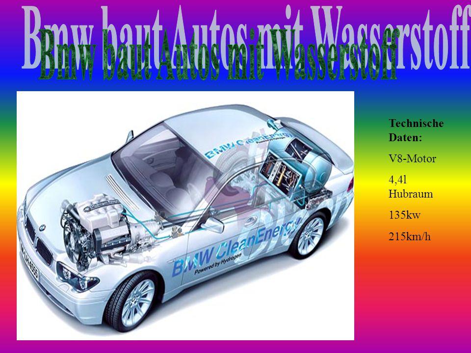 Technische Daten: V8-Motor 4,4l Hubraum 135kw 215km/h
