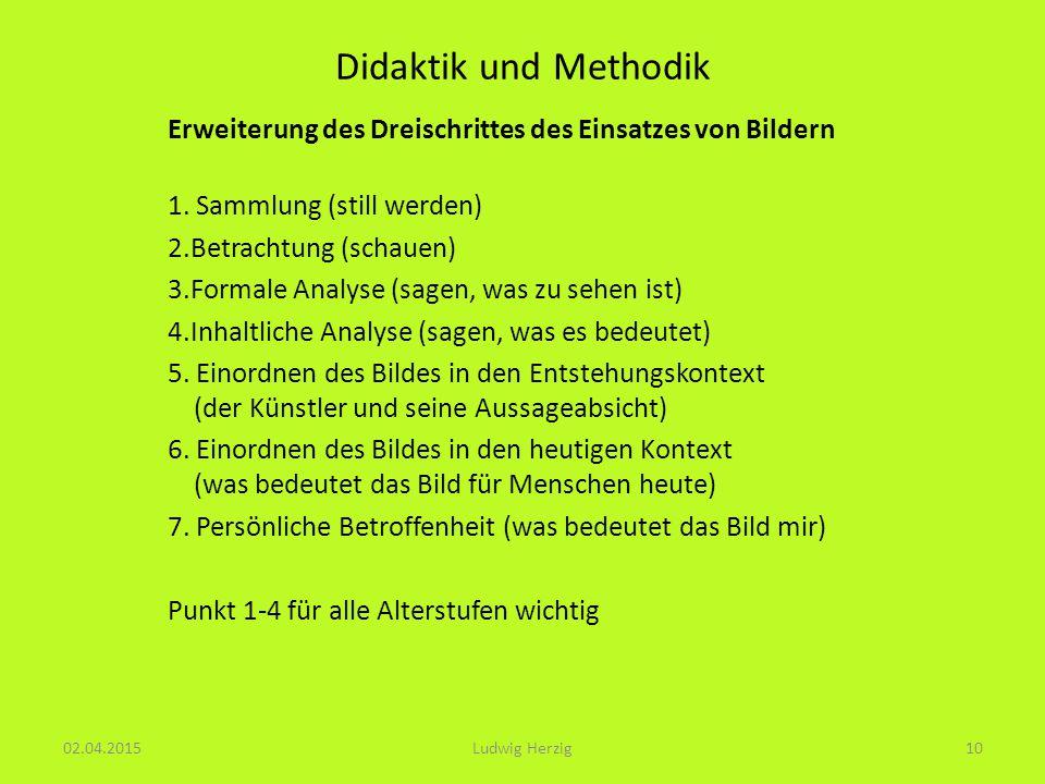 Didaktik und Methodik Erweiterung des Dreischrittes des Einsatzes von Bildern 1.