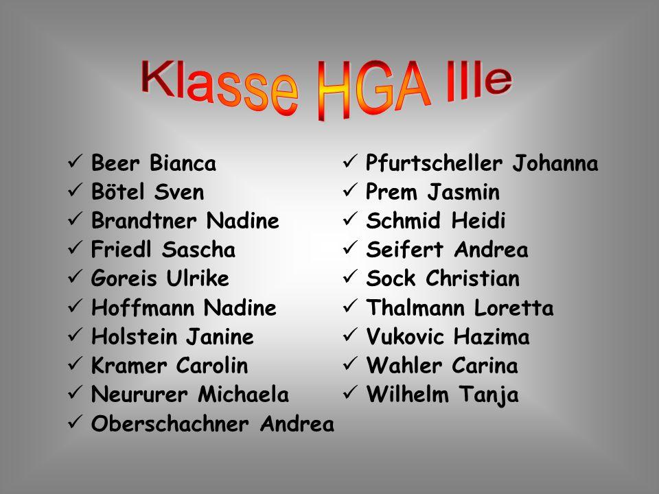 Beer Bianca Bötel Sven Brandtner Nadine Friedl Sascha Goreis Ulrike Hoffmann Nadine Holstein Janine Kramer Carolin Neururer Michaela Oberschachner And
