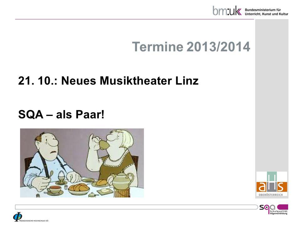 Termine 2013/2014 21. 10.: Neues Musiktheater Linz SQA – als Paar!