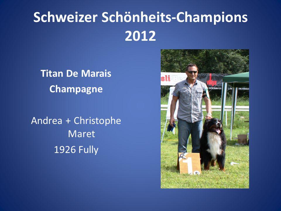 Schweizer Schönheits-Champions 2012 Titan De Marais Champagne Andrea + Christophe Maret 1926 Fully
