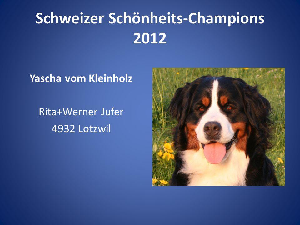 Schweizer Schönheits-Champions 2012 Yascha vom Kleinholz Rita+Werner Jufer 4932 Lotzwil