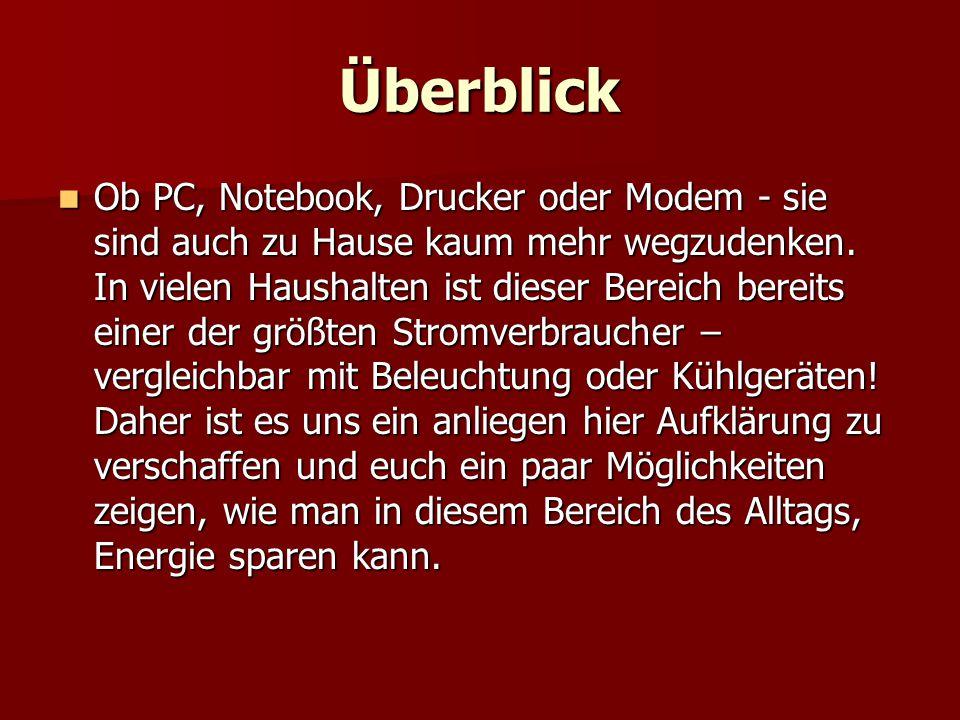 I.) Ohne Computer geht auch daheim nichts …   …PC oder Notebook.