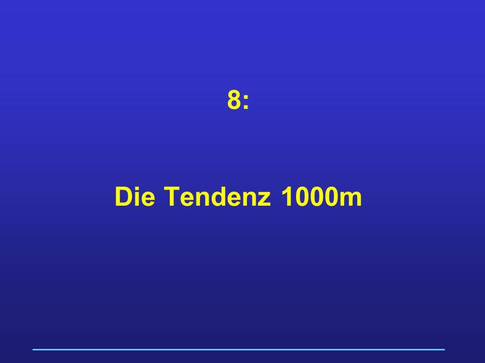 8: Die Tendenz 1000m