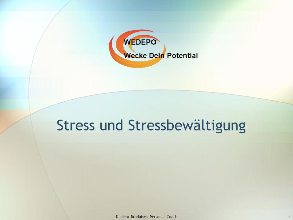 Daniela Bradatsch Personal Coach1 Stress und Stressbewältigung WEDEPO Wecke Dein Potential