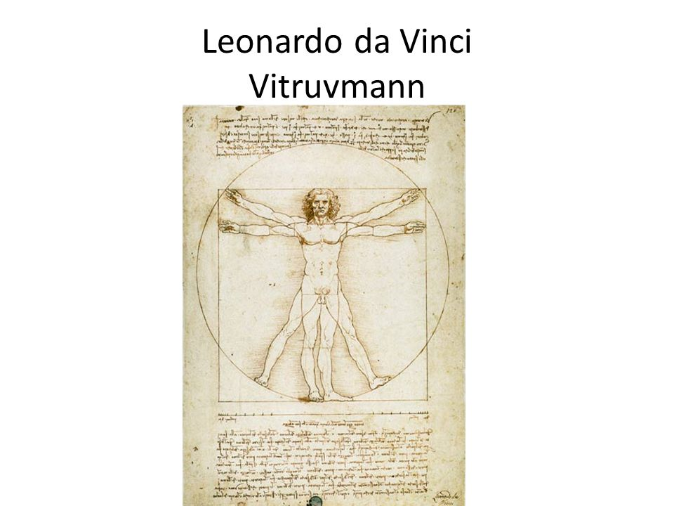 Leonardo da Vinci Vitruvmann