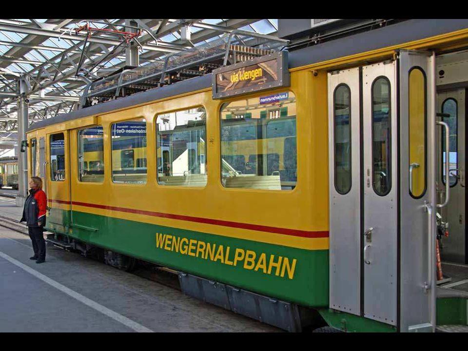Zürich – Bern – Interlaken Ost – Lauterbrunnen – Wengen – Kleine Scheidegg: Wanderung vom Männlichen auf die Kleine Scheidegg (anstrengend im Winter!) Sicht durch's Zugfenster am Thunersee