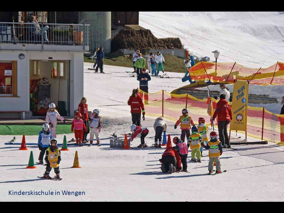 Kinderskischule in Wengen