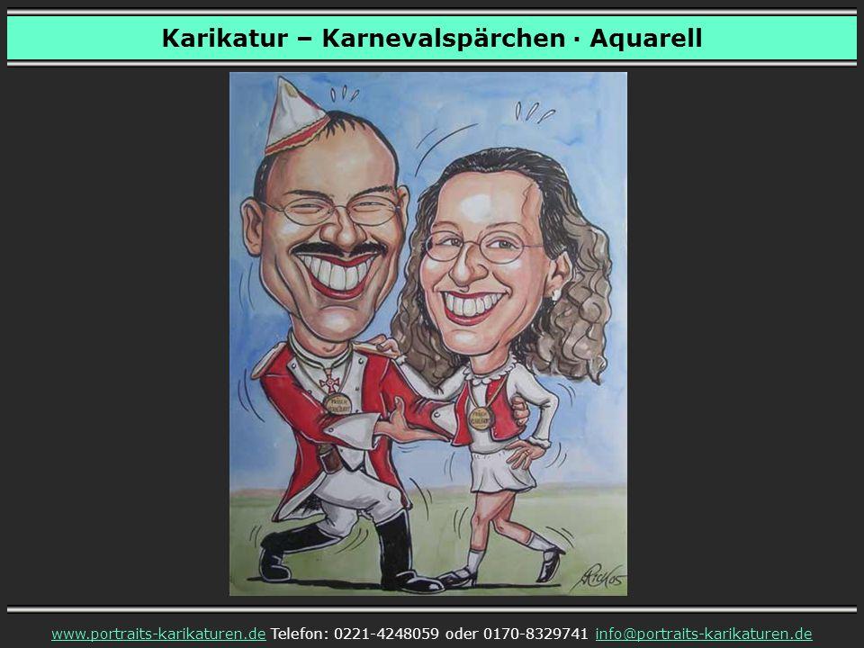 Karikatur – Frau als Karnevalsclown · Aquarell www.portraits-karikaturen.dewww.portraits-karikaturen.de Telefon: 0221-4248059 oder 0170-8329741 info@portraits-karikaturen.deinfo@portraits-karikaturen.de