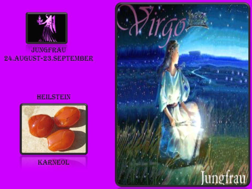 Jungfrau 24.august-23.september heilstein karneol