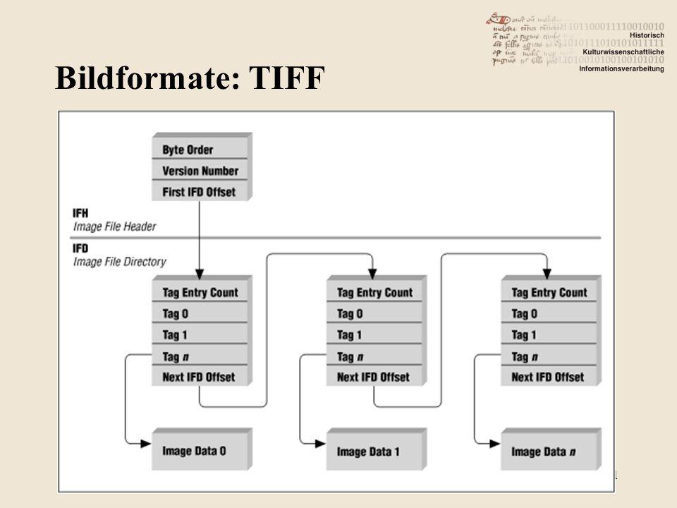 Bildformate: TIFF 11