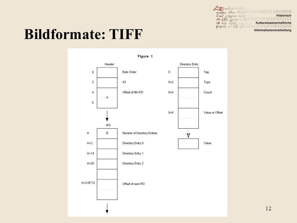 Bildformate: TIFF 12