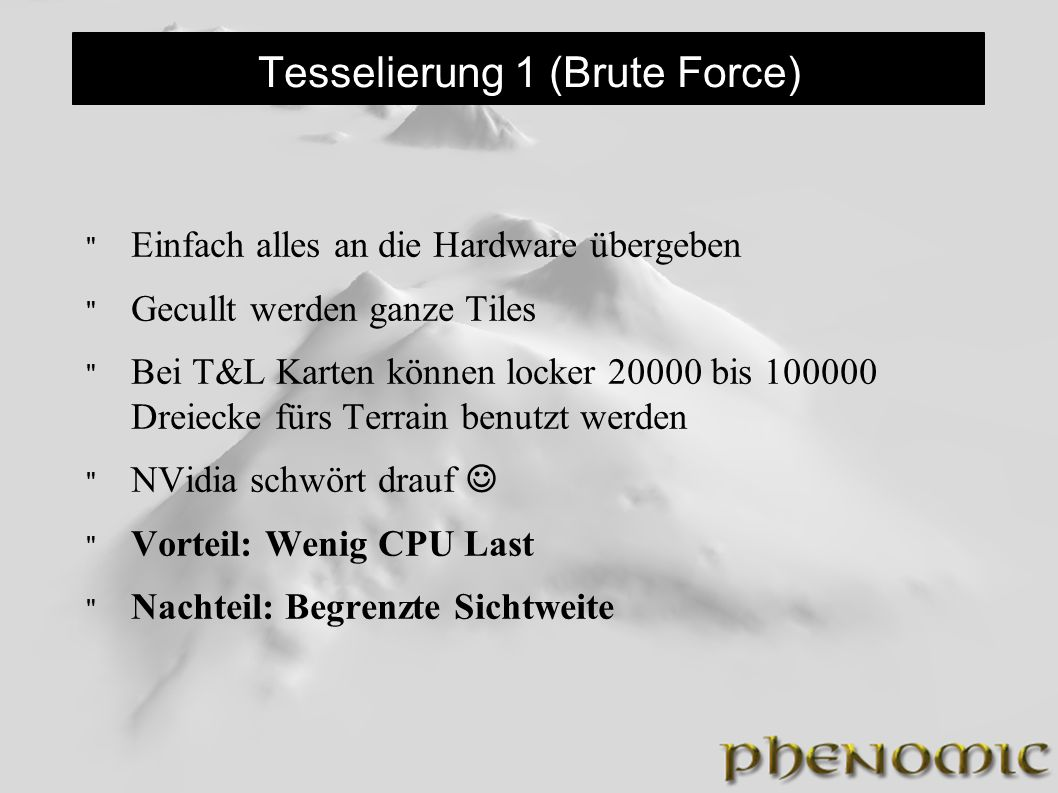 Tesselierung 1 (Brute Force)