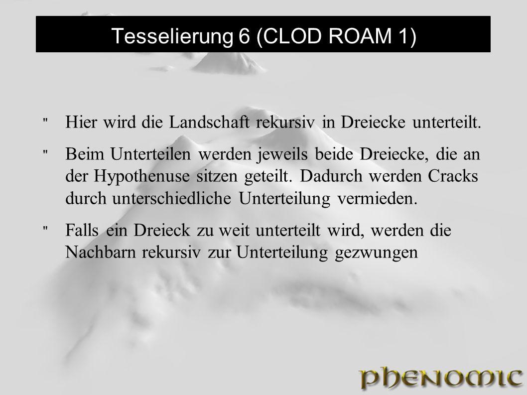 Tesselierung 6 (CLOD ROAM 1)