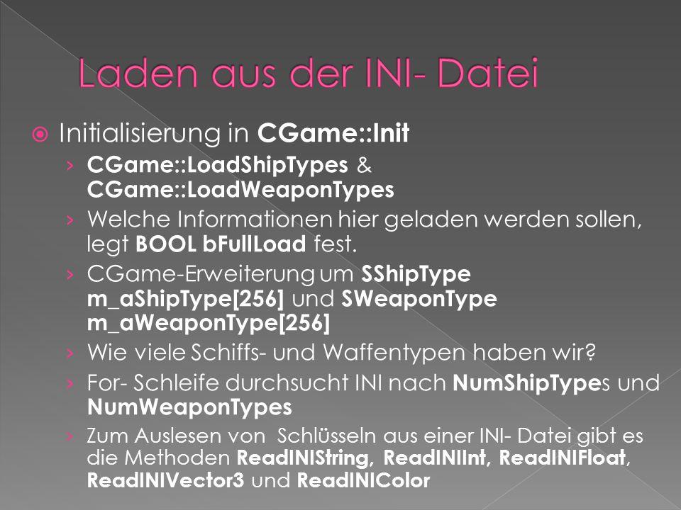  Initialisierung in CGame::Init › CGame::LoadShipTypes & CGame::LoadWeaponTypes › Welche Informationen hier geladen werden sollen, legt BOOL bFullLoa