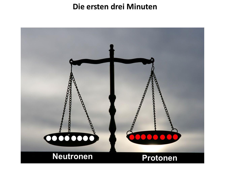 Die ersten drei Minuten Neutronen Protonen