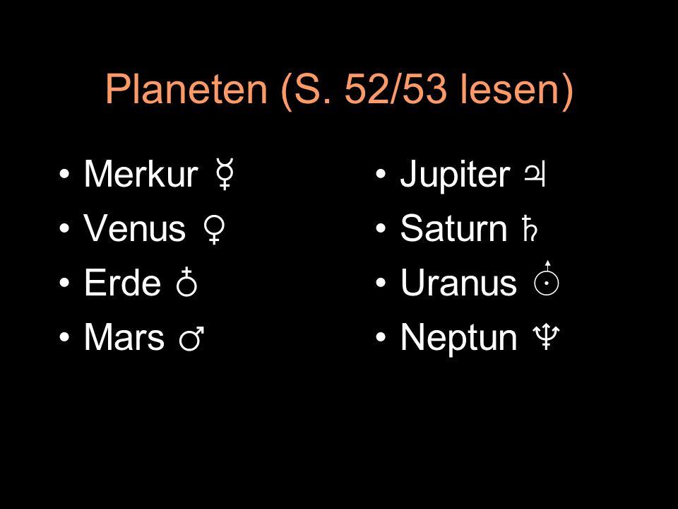 Daten der Erde 1AE = 149,6 ∙ 10 6 km (Sonne – Erde) m = 5,97 ∙ 10 24 kg R = 6378 km (u = 40.000 km) T Eigen = 0,997 d s T Umlauf = 365,25 d s
