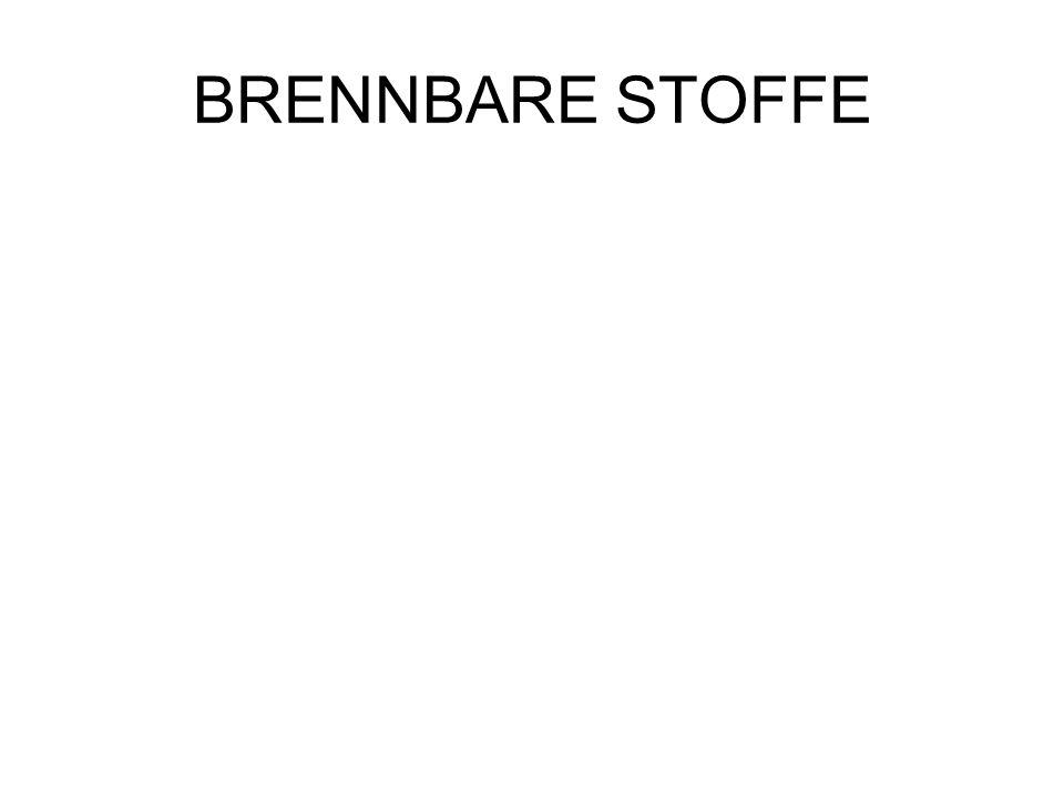 BRENNBARE STOFFE